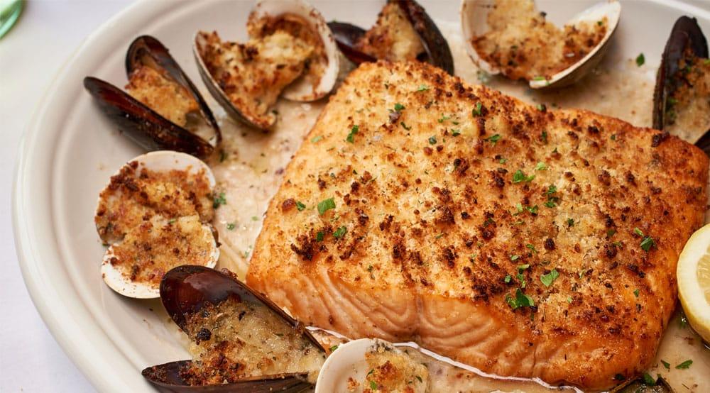 Salmon Oreganata